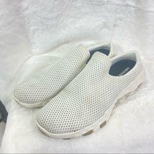 Merrell white perforated slip on sneaker. Size 11